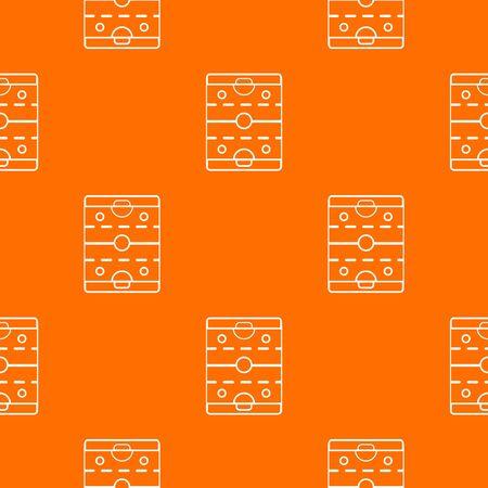 Hockey ice field pattern vector orange for any web design best