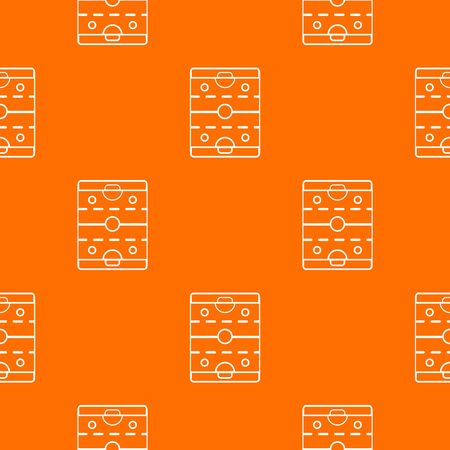 Hockey ice field pattern vector orange for any web design best