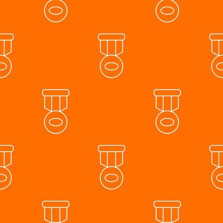 Hockey medal pattern vector orange for any web design best  イラスト・ベクター素材