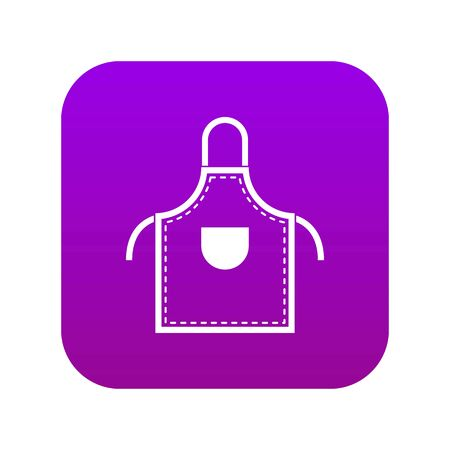 Welding apron icon digital purple for any design isolated on white vector illustration Ilustração