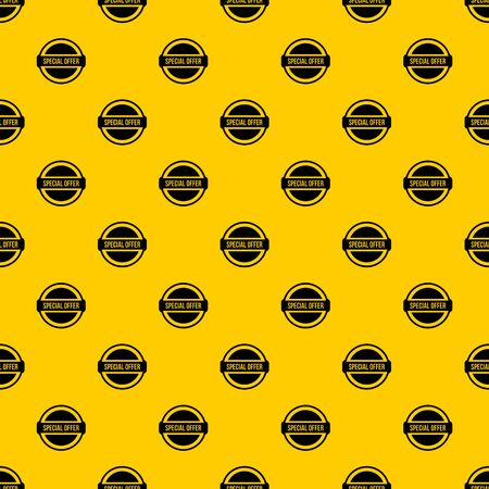 Special offer circle pattern seamless vector repeat geometric yellow for any design Stock Illustratie