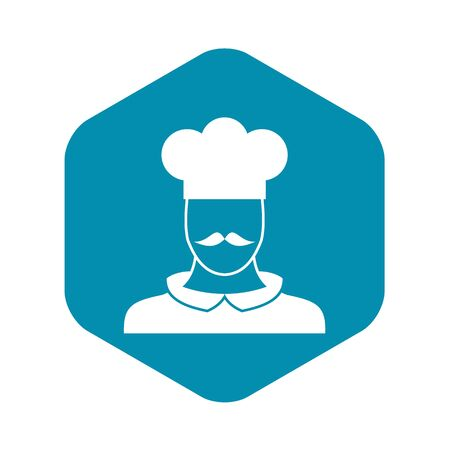 Male chef cook icon. Simple illustration of male chef cook vector icon for web Illustration
