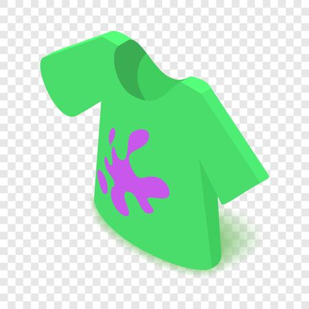 Dirty t-shirt icon. Isometric illustration of dirty t-shirt vector icon for web 일러스트