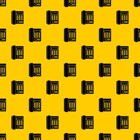 Office business keypad phone pattern seamless vector repeat geometric yellow for any design