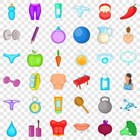 Sport device icons set, cartoon style