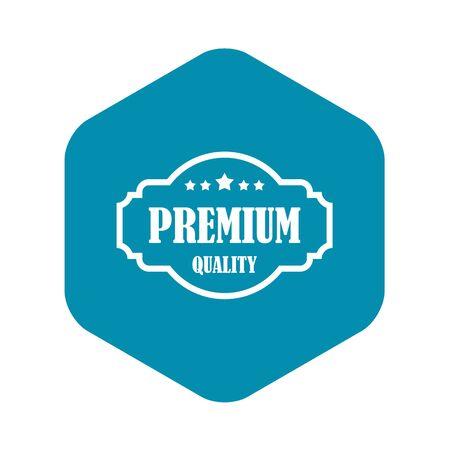 Premium quality label icon. Simple illustration of premium quality label vector icon for web