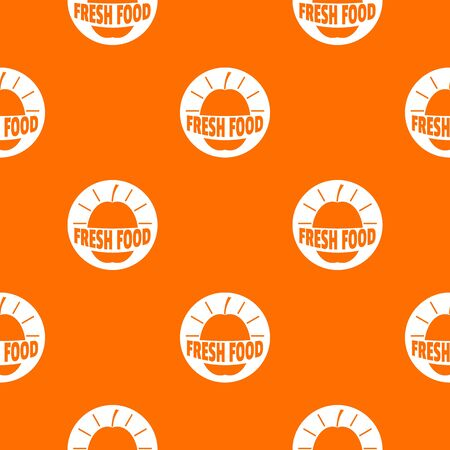New fresh food pattern vector orange Ilustração
