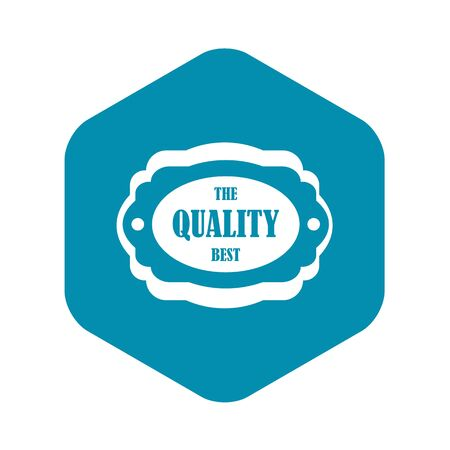 The quality best label icon. Simple illustration of the quality best label vector icon for web Stock Illustratie