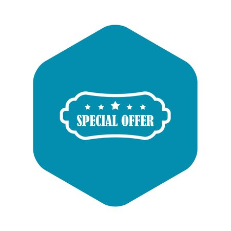Special offer label icon. Simple illustration of special offer label vector icon for web Stock Illustratie