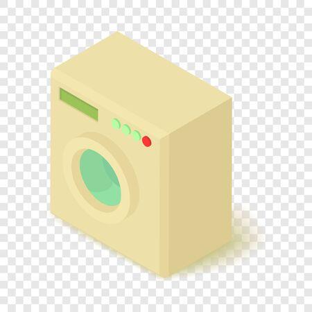 Washing machine icon, isometric 3d style