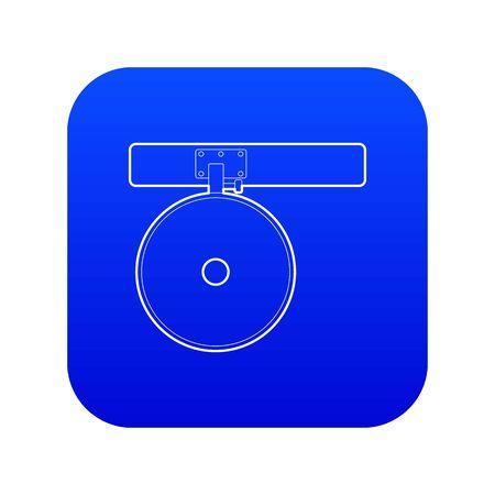 Headlamp reflector icon blue vector