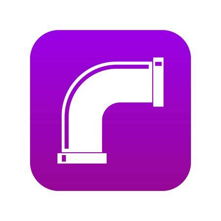 Water pipe icon digital purple