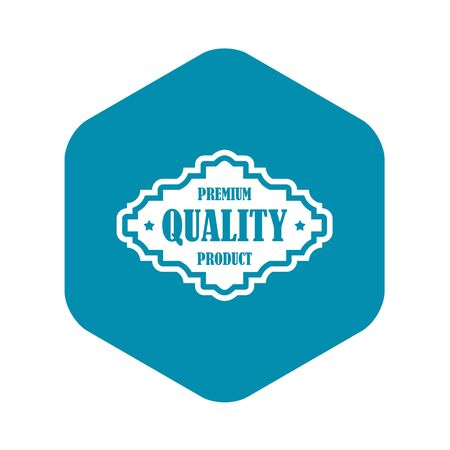 Premium quality product label icon. Simple illustration of premium quality product label vector icon for web