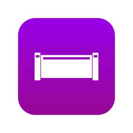 Pipe piece icon digital purple for any design isolated on white vector illustration