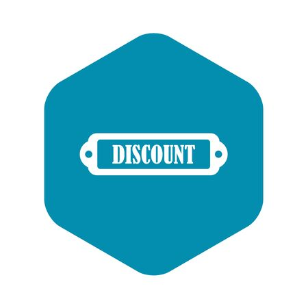 Discount label icon, simple style