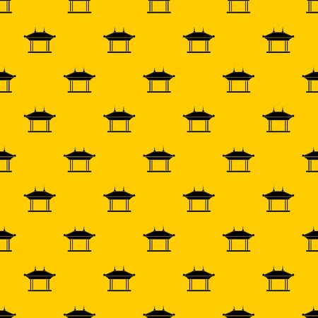 Pagoda pattern seamless vector repeat geometric yellow for any design