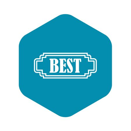 Best rectangle label icon. Simple illustration of best rectangle label vector icon for web