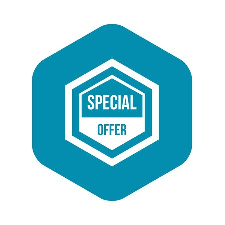 Special offer pentagon icon, simple style Illustration