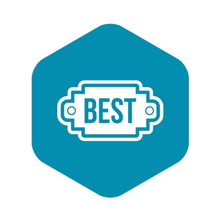 Best label icon. Simple illustration of best label vector icon for web