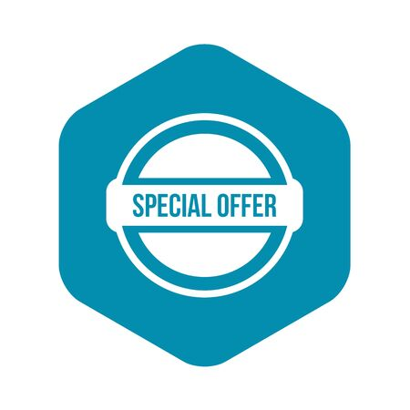 Special offer circle icon. Simple illustration of special offer circle vector icon for web Stock Illustratie