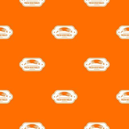 Fresh vegetables pattern vector orange