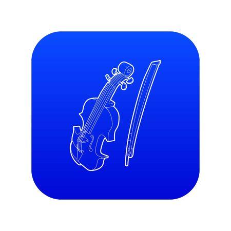 Contrabass icon blue vector