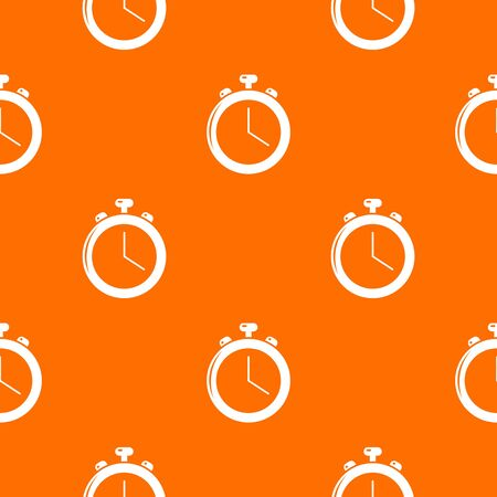 Stopwatch pattern vector orange for any web design best Banque d'images - 130252962
