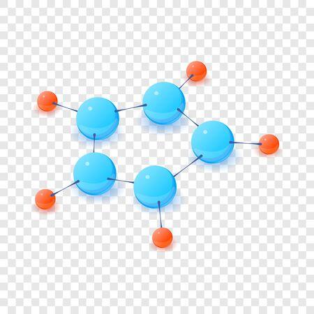 Structure molecule icon. Isometric illustration of structure molecule vector icon for web