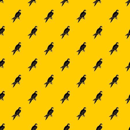 Falcon pattern seamless vector repeat geometric yellow for any design