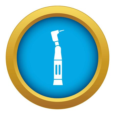 Dental drill icon blue vector isolated on white background for any design