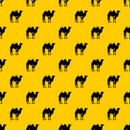 Camel pattern seamless vector repeat geometric yellow for any design  イラスト・ベクター素材