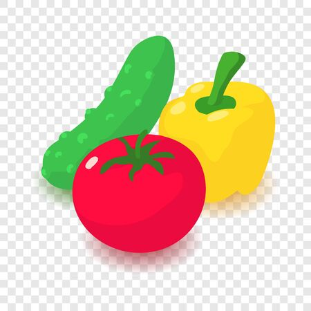 Vegetable icon. Cartoon isometric illustration of vegetable vector icon for web