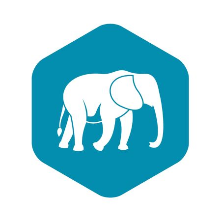 Wild elephant icon, simple style  イラスト・ベクター素材