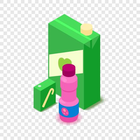Juice icon, cartoon isometric 3d style