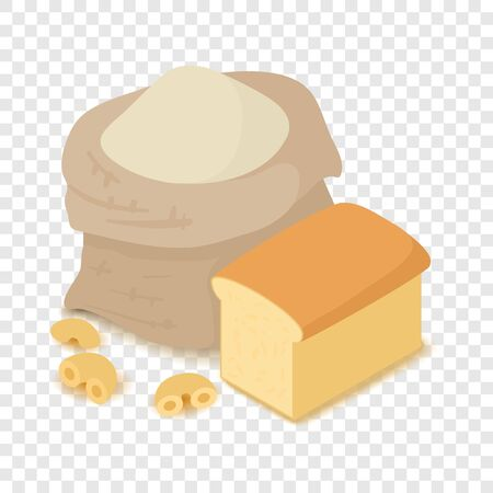 Flour icon, cartoon isometric 3d style