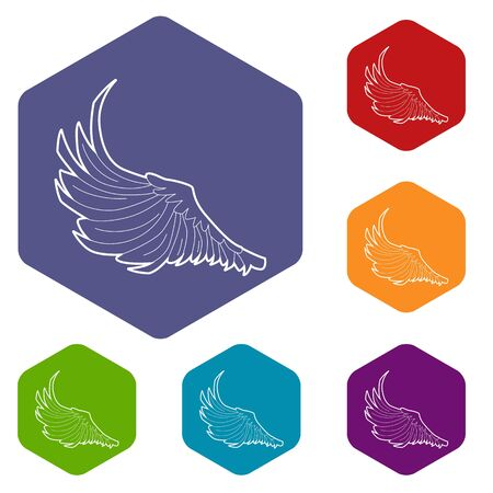 Bird big wing icon, outline style