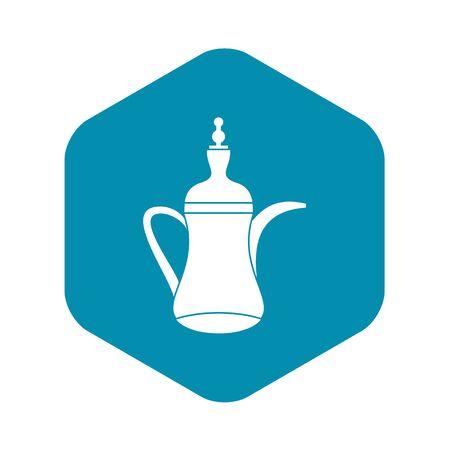 Oriental teapot icon, simple style 일러스트