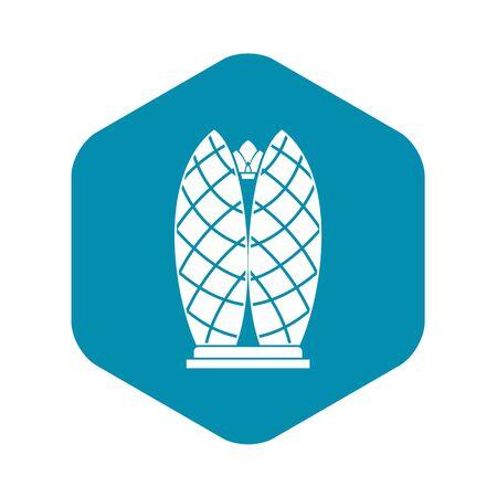 Icona del grattacielo. Semplice illustrazione dell'icona di vettore del grattacielo per il web