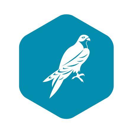 Falcon icon. Simple illustration of falcon vector icon for web