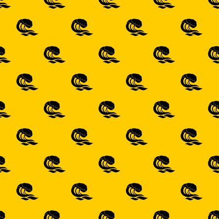 Wave pattern seamless vector repeat geometric yellow for any design