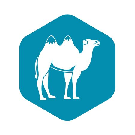 Camel icon. Simple illustration of camel vector icon for web Vettoriali