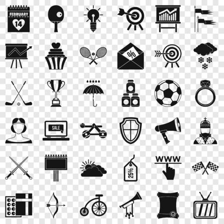 Arrow fly icons set, simple style Banque d'images - 127753200