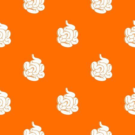 Small intestine pattern orange Zdjęcie Seryjne - 127754611