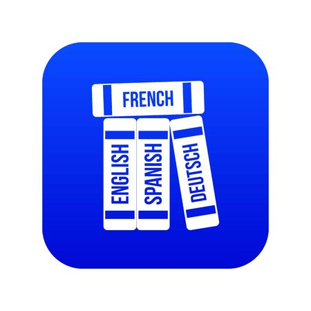 Dictionaries icon digital blue