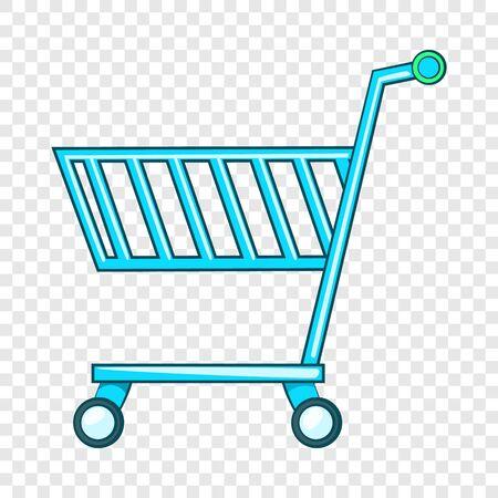 Shopping cart icon, flat style Stock Photo