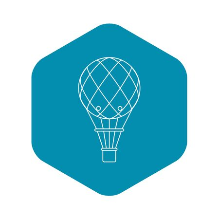 Retro helium air balloon icon, outline style