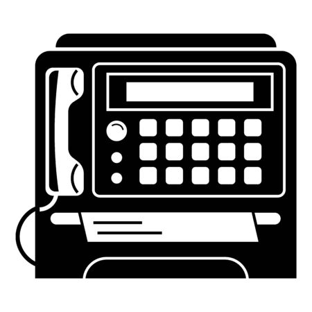 Fax prints icon, simple style