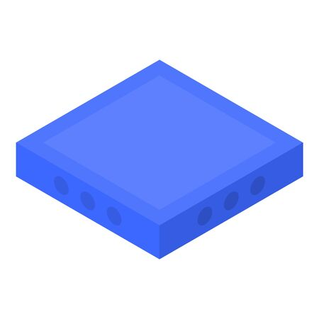 Blue square icon, isometric style Stok Fotoğraf