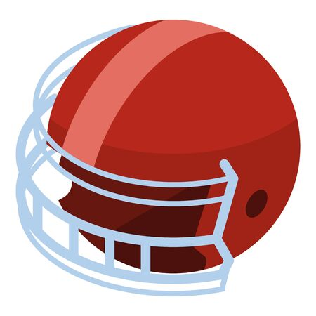 American football helmet icon, isometric style Banque d'images - 130276170