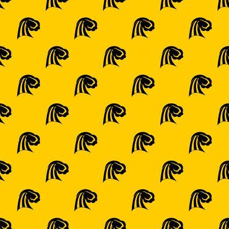 Big wave pattern seamless vector repeat geometric yellow for any design Фото со стока - 130253142